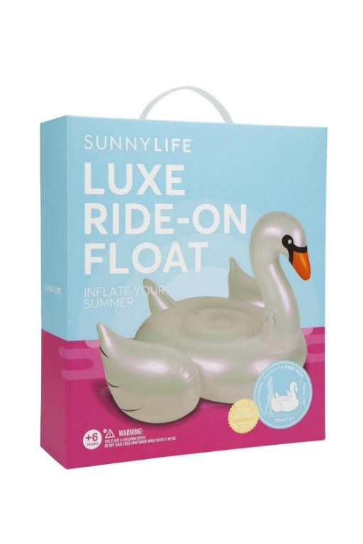 SUNNYLIFE - LUXE RIDE-ON FLOAT PEARL SWAN 32551