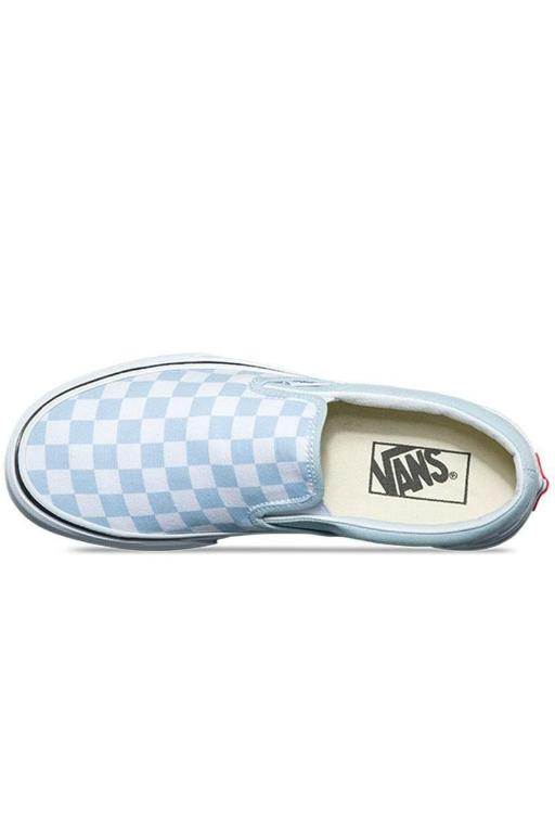 VANS - CLASSIC CHECKERBOARD SLIP ON BABY BLUE 32799