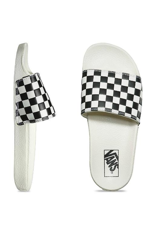 VANS - CHECKERBOARD SLIDE ON WHITE/BLACK 32369