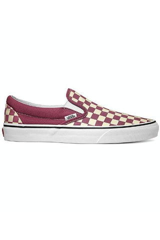 VANS - CLASSIC CHECKERBOARD SLIP ON DRY ROSE/TRUE WHITE PINK 34364
