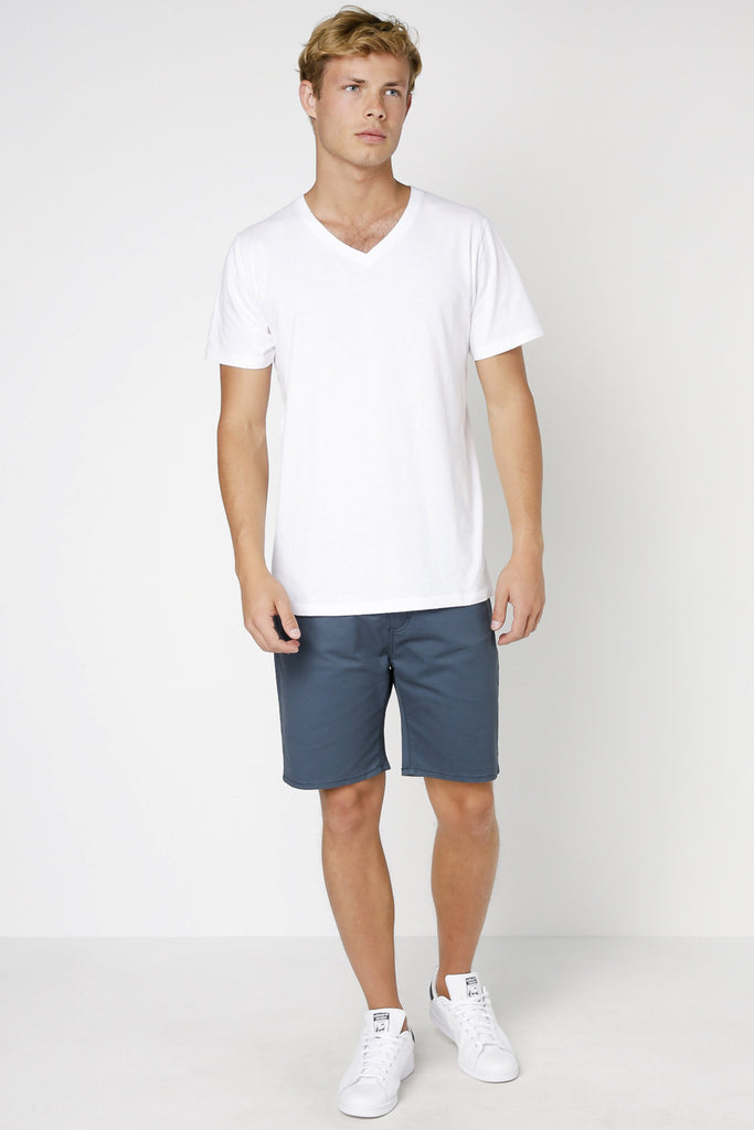 ARTICLE No. 1 - PLAIN V NECK T-SHIRT WHITE 32570