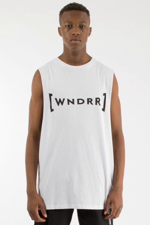 WNDRR - BREAKOUT MUSCLE TOP WHITE 34847