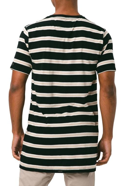 ZANEROBE - ID FLINTLOCK TEE BLACK/SHELL STRIPE 34054