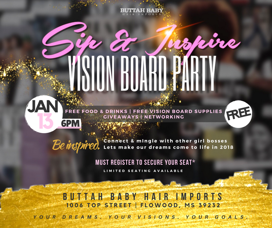 Vision Board Party Buttah Baby Hair Imports