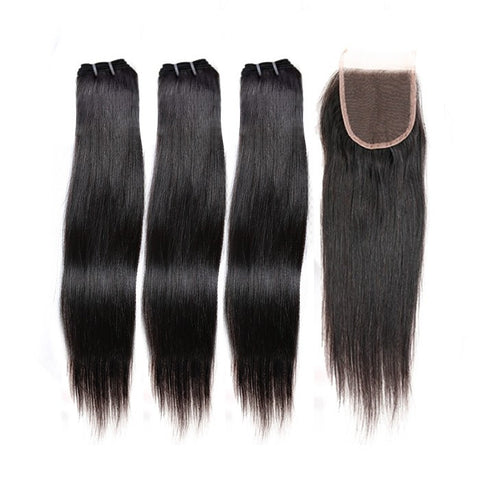 3 Bundles with Lace Closure- Elite Straight