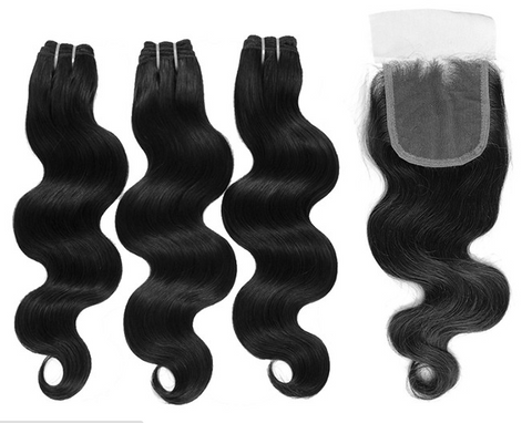 3 Bundles with Lace Closure- Elite Body Wave