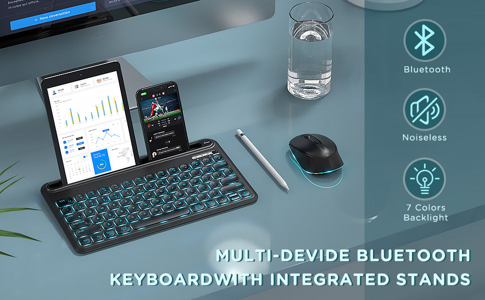 ISJ-DJC01 Backlit Bluetooth Keyboard