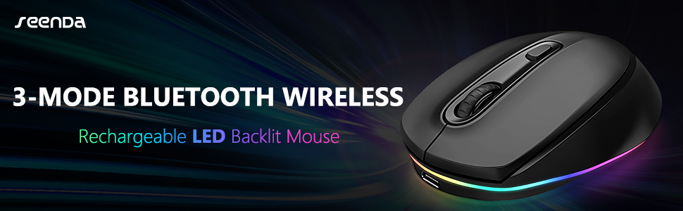 IWG-FGM Rechargeable LED Bluetooth Mouse
