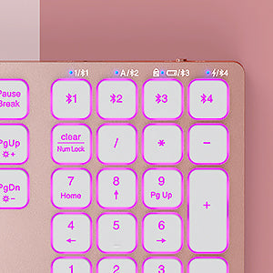 IWG-WJK67BT4 Rose Gold Backlit Keyboard