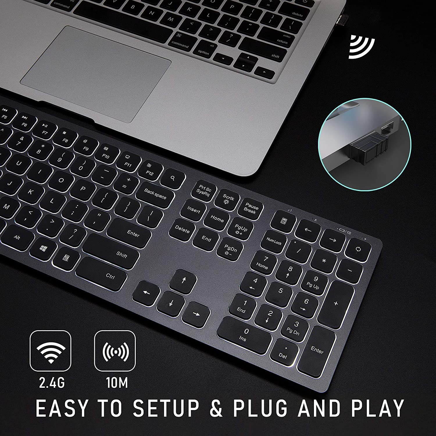 IWG-WJK67FGT Wireless Illuminated Keyboard