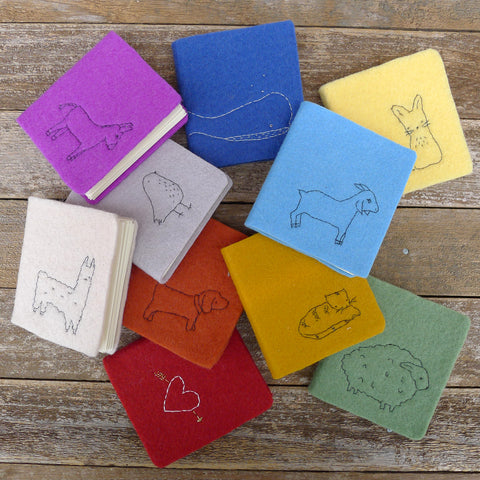 little felt journals