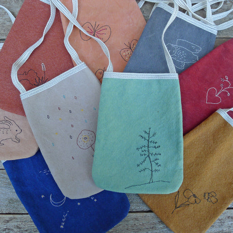 pocket purses: simple & embroidered