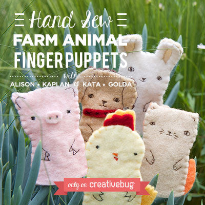 Materials Kit for Creativebug project- Farm Animal Finger Puppets