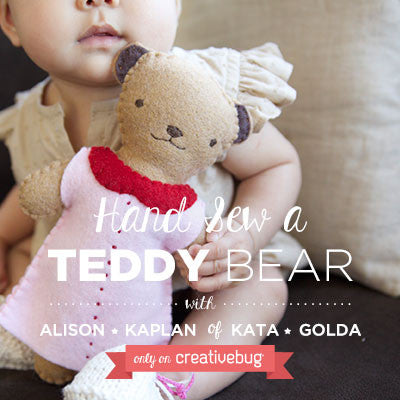 Materials Kit for Creativebug project- Teddy Bear