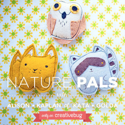 Materials Kit for Creativebug project- Nature Pals (set of 3)