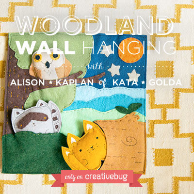 Materials Kit for Creativebug project- Woodland Wall Hanging
