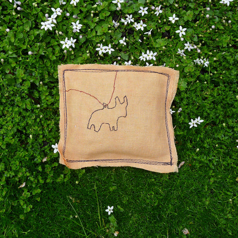 little milagro inspired lavender pillow: goat