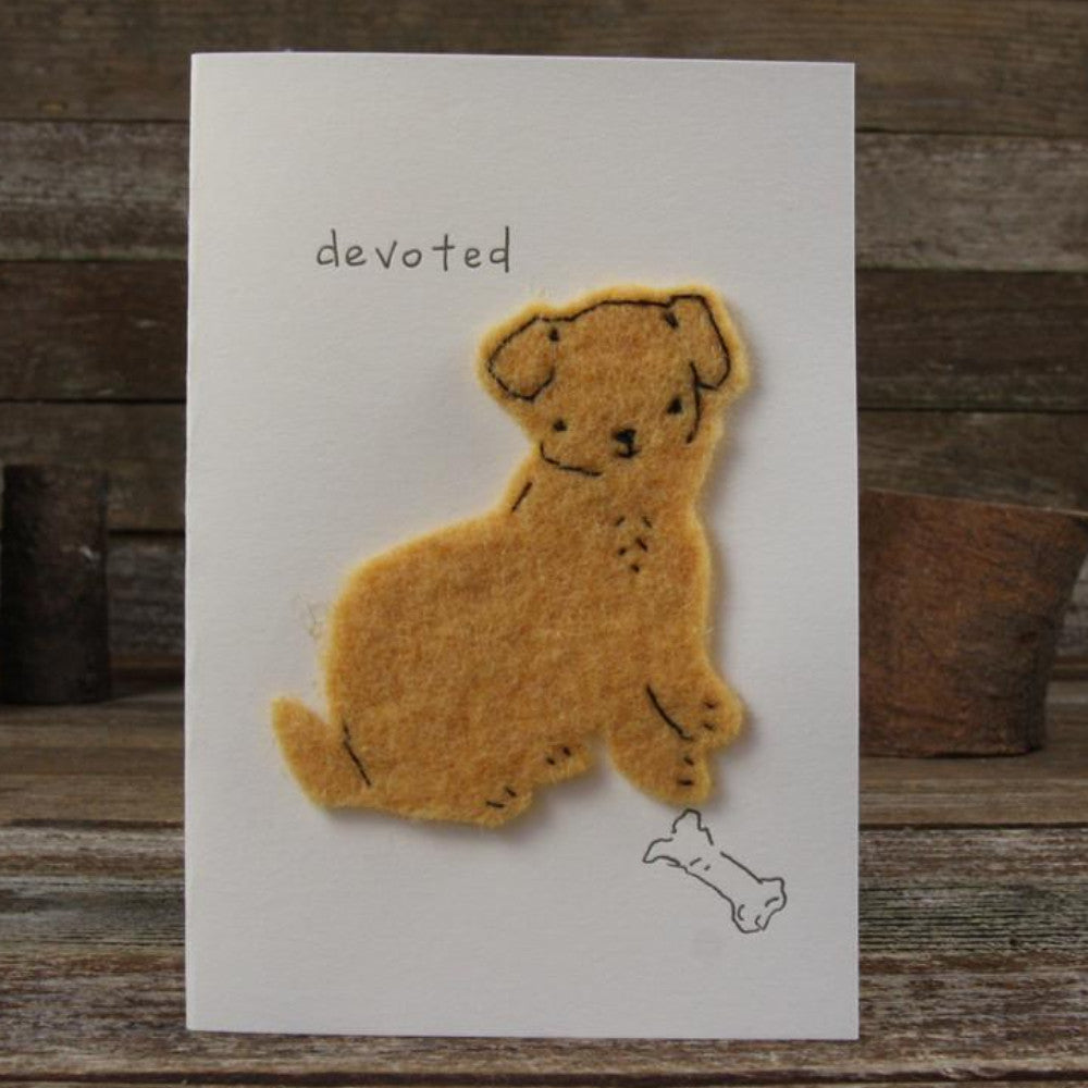 card: devoted, dog