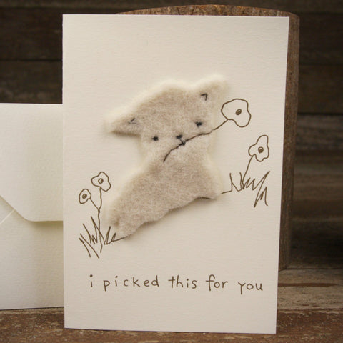 card: I picked this for you, lamb