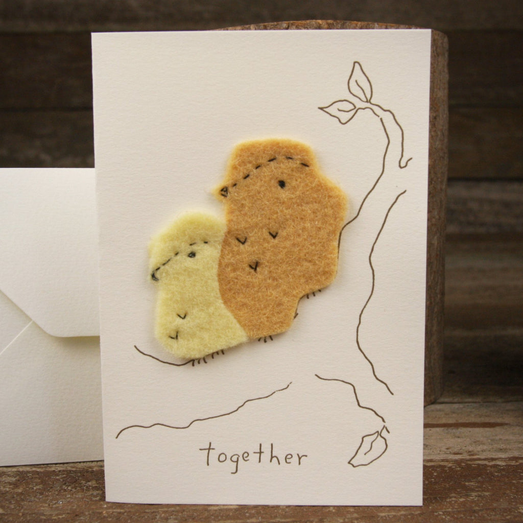 card: together, two birds