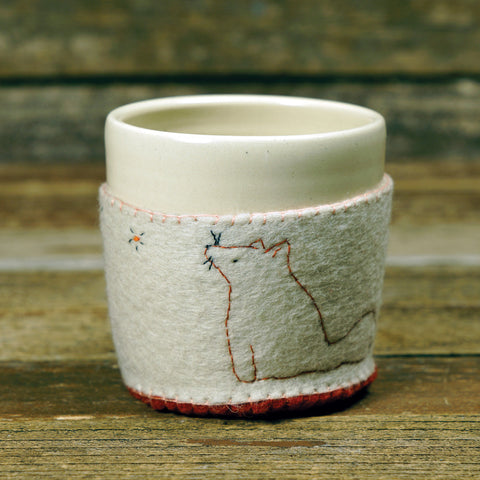 cup in cozy: stargazing fox