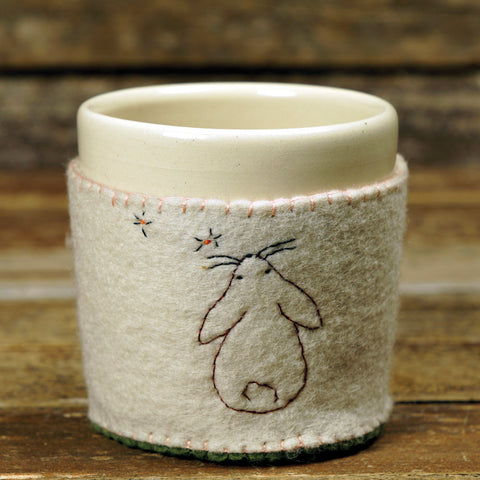 cup in cozy: holiday rabbit
