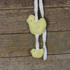 wool felt decoration: hen and chick