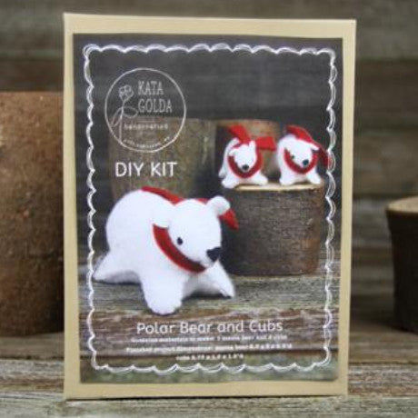 DIY kit- polar bear and cubs