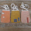DIY pocket purse kit: tea-dyed & orange