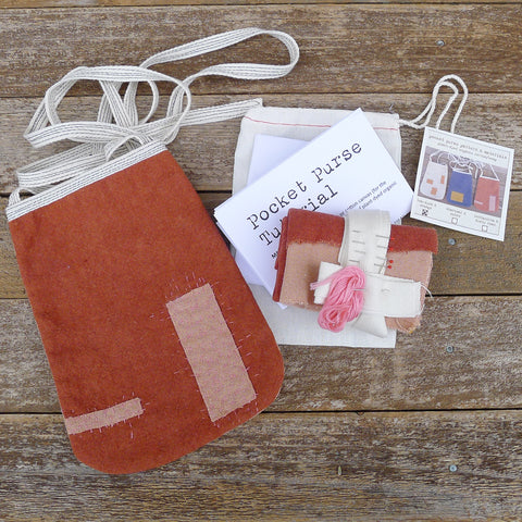 DIY pocket purse kit: terracotta & dusty rose