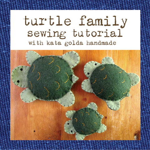 free sewing tutorial: turtle family