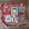 DIY decorative silk ribbon: red/festive