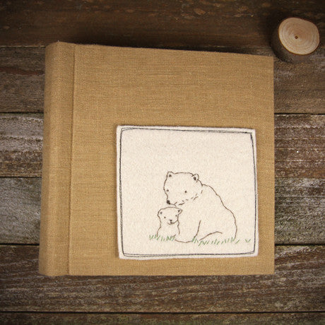 embroidered felt patch album- bears