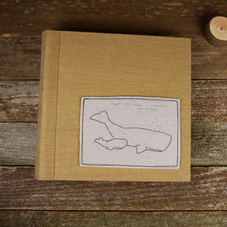 embroidered felt patch album- whales