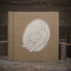 embroidered hemp organic cotton album: dog