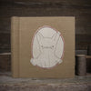 embroidered hemp organic cotton album: rabbit
