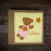 felt appliqué patch album- bear girl