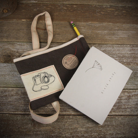 field study book in pouch: camera