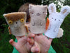 finger puppets: mama squirrel and kit