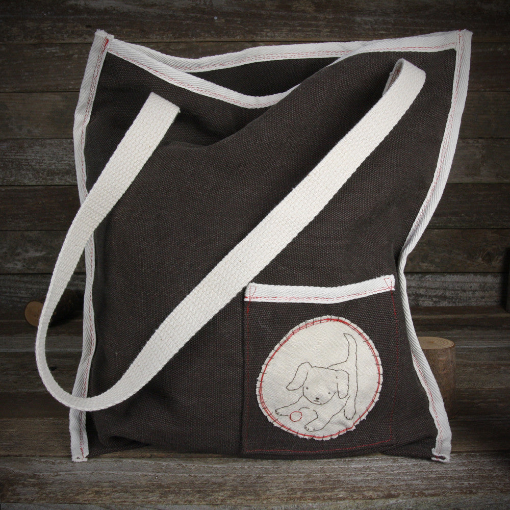 hemp tote: dog
