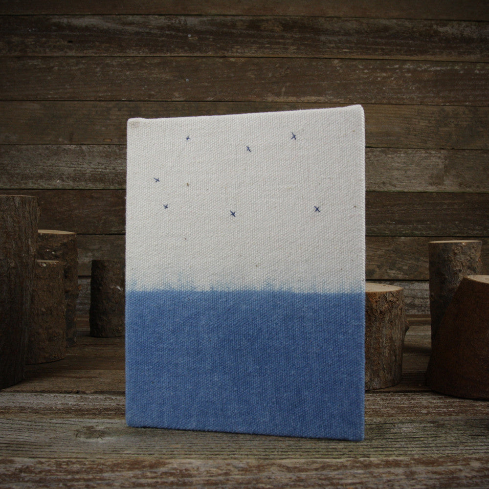 indigo hand-bound journal: constellation