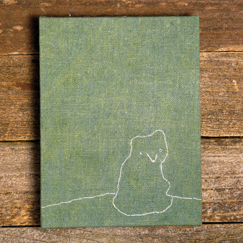 hand-bound journal: bear