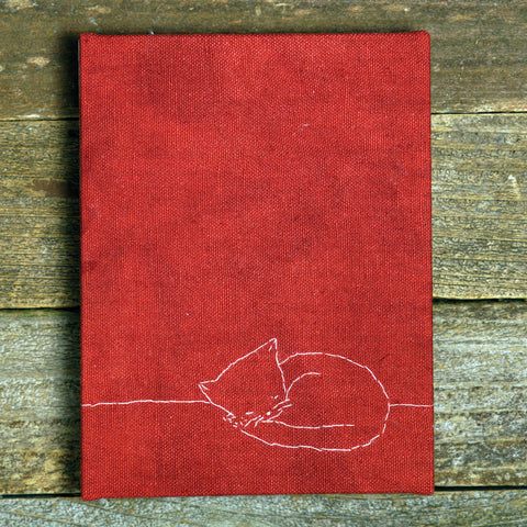 hand-bound journal: cat