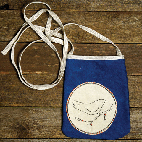 pocket purse: bird patch