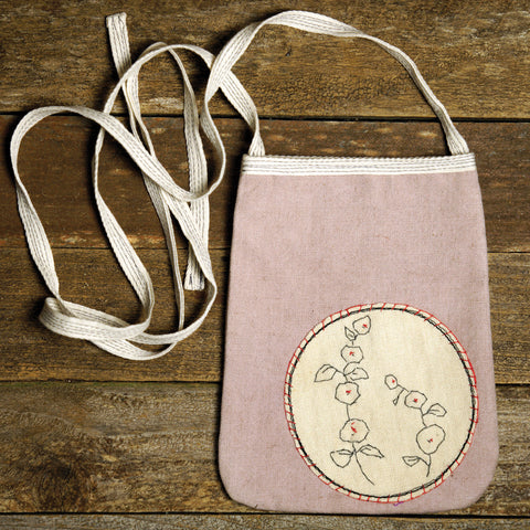 pocket purse: hollyhock patch