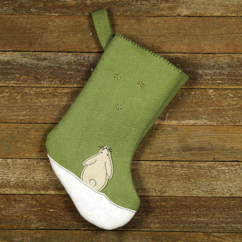 christmas stocking: rabbit