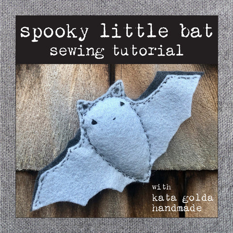 free sewing tutorial: spooky little bat