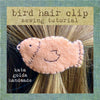 free sewing tutorial: bird hair clip