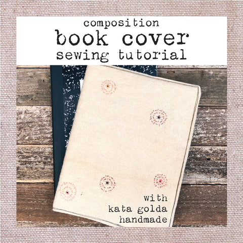 free sewing tutorial: composition book cover