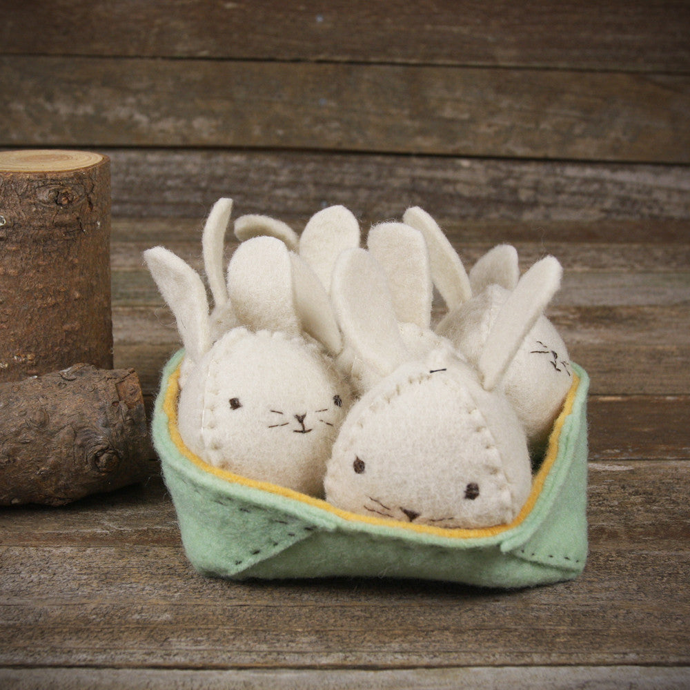 seasonal: spring- bunnies in basket